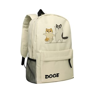 Cartable pour primaire Middle School étudiants Bookbag Daypack Sac à dos avec la conception Doge Shiba Inu