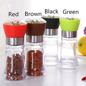 4 Colors Manual Stainless Steel Salt Pepper Grinder Spice Mill Ceramic Core Kitchen Cooking Grinding Tools Portable Useful