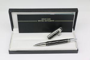 Hochwertige Rollerschreiber Mistery schwarzen Körper Büro-Briefpapier Business Writing Geschenk Kugelschreiber Mit Crystal Top Kopf