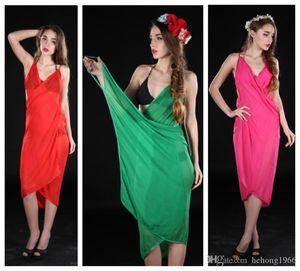 Bohemia Style Chiffon Beach Towel Pure Colors For Women Swimwear Summer Sun Block Long Shawls Hot Sale 7af BB