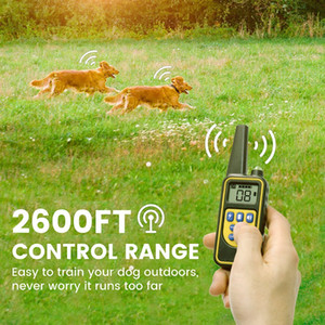 Dog Training Collar Dog Collar with Remote 2600ft Control Range ECollar for 2Dogs with 4Training Modes for Medium and Large Breed Dogs Dog