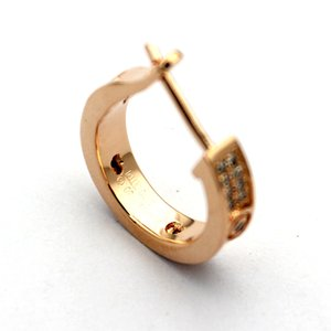 New Fashion jewerly famous brand Stud Orecchini in acciaio di titanio con filetto in oro 18 carati placcato in oro classico Orecchini gemma d'amore per le donne c