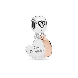 2019 anneler Günü Otantik Gerçek 925 Ayar Gümüş Anne ve Kızı Charms Avrupa Charms Boncuk Fit Pandora Bilezik DIY takı