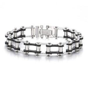 The New Men's bracelets Bicycle chain bracelet Stainless steel silver Personal style charm Wild rope