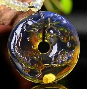 Free Shipping New Dominica 5A clear water blue Peltier Pendant