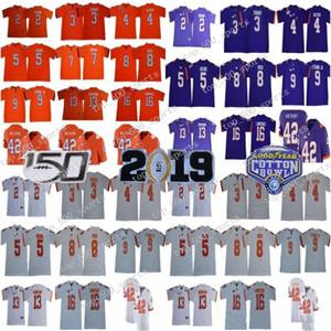 Clemson Tigers 2019 2020 Futbol 8 Justyn Ross 5 Tee Higgins 3 Xavier Thomas 16 Trevor Lawrence NCAA 150. ncaa kolej dikişli formaları