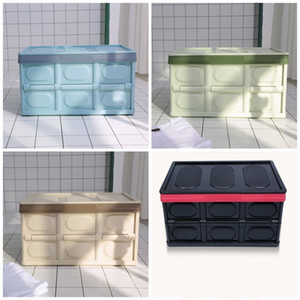 Caja de almacenamiento de coche plegable Plástico multifuncional Organizador de oficina Verde Azul Color negro Contenedores plegables para el hogar 30l Gran capacidad 2