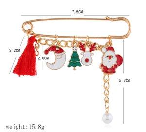 Abbigliamento Natale cervi spilla Babbo Natale pupazzo di David pins Hot vendita nella moda Europa e in America le donne