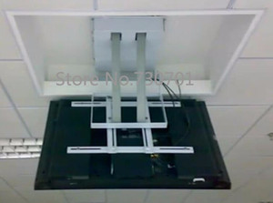 Большой проект потолочный телевизор лифт дюймовый телевизор, монтажный кронштейн для плазменного телевизора с электроприводом 110 В - 250 В для большого проекта