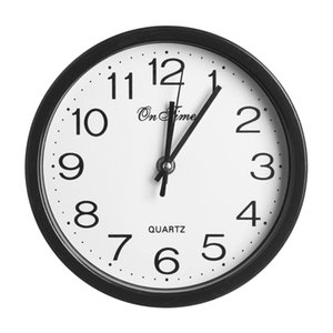 1 PC Simplicité mur Horloge ronde moderne Chambre Sweep Deuxième mouvement Quartz de Bell Silent Wall Horloge ronde Home Decor