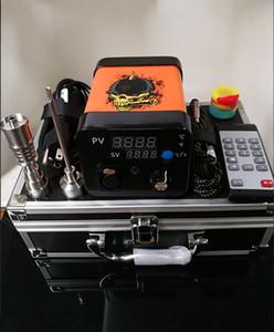 Mais novo Menovo Elétrica Titainium Dab Pregos Pen Rig Oil Dabbing Dabbing PID Caixa TC Com Domeless Coil Heaer Kit Dnail 0268110