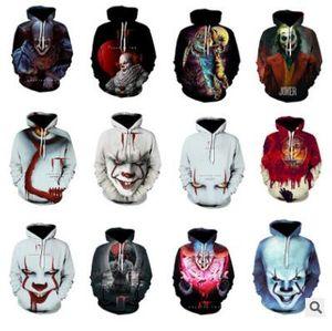 Horror Movie IT Chapter Two 3D Print Hooded Sweatshirts Men Women Fashion Casual Funny Pullover IT Clown Print Pattern Hoodies S-5XL