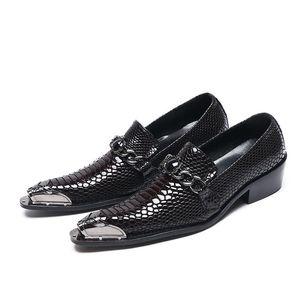 Sıcak Satış-ne Deri Gentleman Parti Business Suit erkek paty balo ayakkabı Timsah Düğün Ayakkabı Sahne yazdır