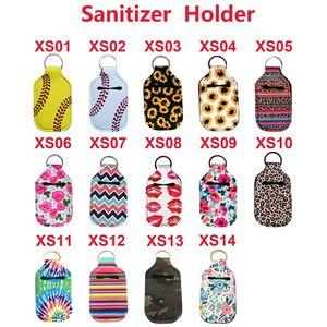 Hand Sanitizer Bottle Titular Keyring resistente e lavável Neoprene Keychain para garrafas de 30ml Gym Shampoo Lotion Soap Perfume e Líquidos Tr
