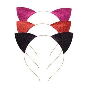 Cat Ears fascia infantile glitter Cat orecchie fasce Hair Sticks testa del metallo del cerchio Chiusure della decorazione del partito puntelli Accessori per capelli GGA3346-1