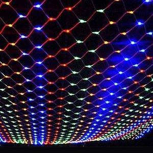 Ev Festivali Garden Party Sarf Malzemesi 220V Eu Tak 3x2m Su geçirmez Led Net Dize Işık Diy Noel Süsleri