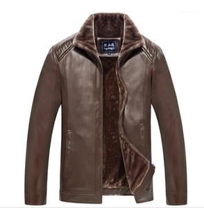 Erkek Tasarımcı ceketler 19 Kış Kalın Kuzu Koyun postu Baba Jacket Coats Isınma