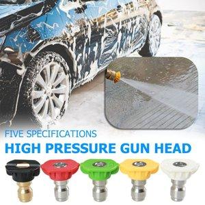 Water Gun Lance neige Mousse 1 / 5pcs voiture à haute pression Buse de laveuse à Jet Lance neige mousse Diffuseurs de lavage Pistolet Conseil Buse 0-60