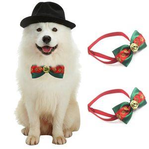 Yaka Noel Pet Kedi Köpek Boyun Köpek Bakım Noel Gerekli Bow Tie Parti Noel Süsleme Festivali Malzemeleri