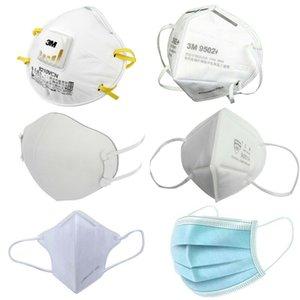 em estoque! máscaras DHL frete grátis disponível 3 camada de proteção máscara casa PM2.5 3m face Boca ffp301 máscara