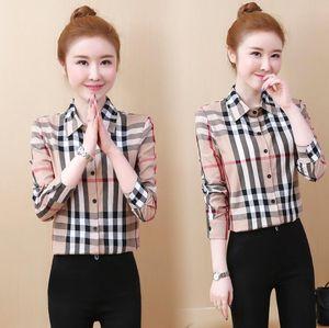 Frauen Blusen Plain 2019 Mode Langarm Umlegekragen Büro Hemd Baumwolle Bluse Shirt Casual Tops Plus Größe Blusas Femininas