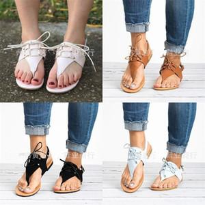 Toe Sandálias De Aperto Para As Mulheres Verão Verde Marrom Preto Bege Flattie Alta Qualidade Praia Ao Ar Livre Sapatos Da Moda 26zj D1