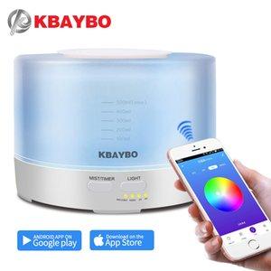 KBAYBO 500ml Aroma Diffuseur avec APP Télécommande Aroma Air Humidifier 7 LED Couleur Lumière électrique faiseur de brume fraîche aromathérapie