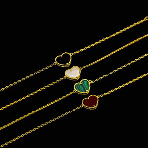 caldo dorato naturale cuore di pietra conchiglia agata braccialetto della malachite Medio Oriente quattro colori per le donne e gioielli braccialetto uomo