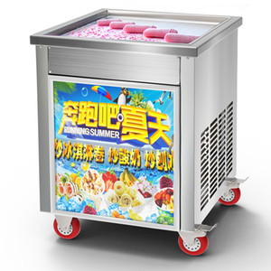 Intelligente temperatura controllata Thai Fried Ice Cream Roll Machine commerciale fritto Macchina del ghiaccio fritto yogurt macchina 110V / 220V