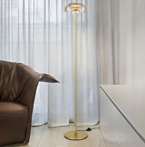 Nordic personality glass floor lamp dormitorio estudio luz ambiente de lujo Designer metal floor light AC 90-260V