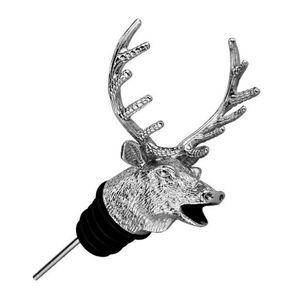 Acier inoxydable Cerf Stag Head Vin Verseur Unique Bouchons De Bouteille De Vin Aérateurs De Vin Bar Outils avec Boîte DHL Gratuit