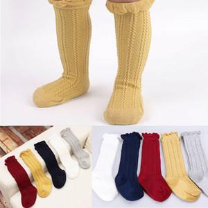 Bebé Niños Niños Niñas Calcetines para niños pequeños Algodón suave Rodilla Medias altas Medias Pierna