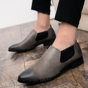 Shoes Vintage Classic Man Single Office Shoes Genuine Leather Formal Dress Party Oxfords Monk Sneakers Men's Flats
