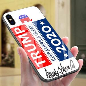 Élection Trump Phone Case couverture anti-chute en verre trempé Housse de protection pour iPhone 6/6 / 6s 6s plus 11 XS Max Pro Party Favor 100pcsT1I1979