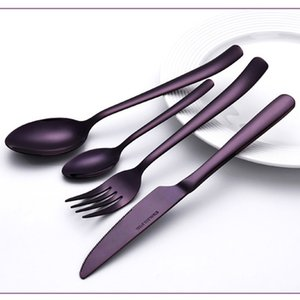 New product Korean High-grade fashionTableware Stainless Steel Tableware Four-piece Knife Fork Spoon Suit Small wholesale YT0144