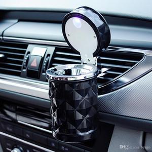 Car Styling Rauch Schwarz Weiß Lagerung Aschenbecher Autozubehör Universal Outdoor Tragbare LED-Licht Auto Aschenbecher Zigarettenspitze DH0971 T03