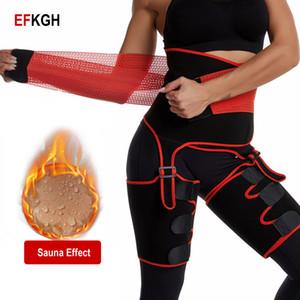 EFKGH Bundas Lifter Neoprene Sauna Coxa Trimmer Push Up cintura alta Slimming Belt Corpo Shaper instrutor Sweat Calcinhas Controle
