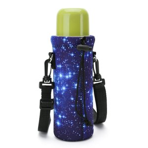 사용자 정의 승화 전체 인쇄 3mm 네오프렌 물 음료 병 홀더 절연 토트 스포츠 하이킹 병 캐리어 가방 파우치