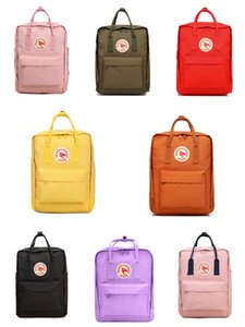 Fjallraven Kanken Classic Pink High Quality Sport Backpacks Outdoor Travel Student Canvas Moms Bags Computer Bags Outlet #QA993