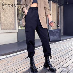 Genayooa Plus Size Pants Women Cargo Pants Street Taschen Jogginghose Frauen übergroße Hosen Cargo-2020-Sommer-koreanische