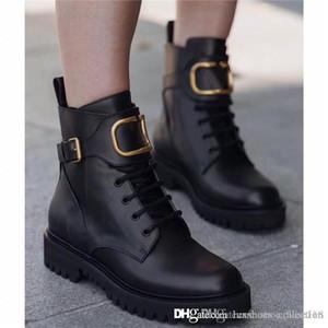 Le donne inverno stivale da combattimento in pelle di vitello per il 2019, delle donne Martin caviglia-alti a cassettoni lucidato stivali di pelle in nero prossimo con la scatola formato 35-40