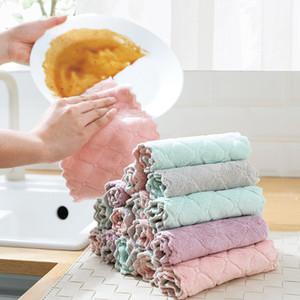DHL Cuisine vaisselle tissu Serviettes Absorbent plat de cuisine en tissu lavable huile antiadhésives torchon à vaisselle Séchage rapide Outils de nettoyage vaisselle Chiffons