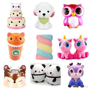 Neue Squishy Kuchen Fox riesige Squishies langsam steigende 15 cm Soft Squeeze Cute Handy Strap Geschenk Stress Kinderspielzeug Dekompression Spielzeug