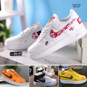 Nike air force 1 one de nuevo de la llegada de las fuerzas para mujer para hombre 1 en monopatín zapatos casual Blanco Negro Moda deportes corrientes zapatillas de depor