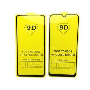 Tela 9D completa colagem da tampa completa vidro temperado Para Xiaomi Mi 9 SE 9H Protector filmes para redmi K30 K20 Nota 8 Pro 7 6 6A Nota 5 Prime 5A