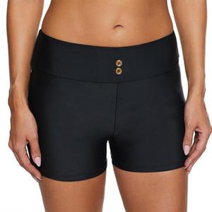2020 das Mulheres cintura alta Swim inferior Ruched Bikini Tankini Swimsuit Briefs Plus Size Natação Calças Tankini Mujer3.5