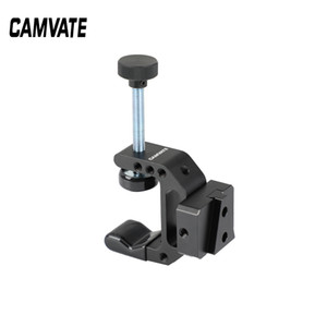 "CAMVATE Robust C Clamp With 1 4"" Mounting Points + Quick Release V-Lock Mount Wedge Kit C2528"