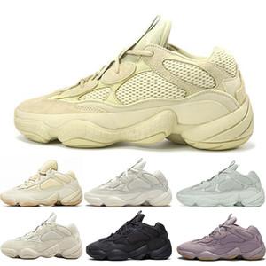 Nuovo Kanye West deserto ratto 500 morbida Vision pietra osso bianco utilità blush sale nero delle scarpe di Uomini Donne alte scarpe da tennis di qualità in esecuzione