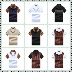 luxurious Italy designer stripe polo shirt t shirts Luxury snake polos bee floral embroidery mens High street fashion horse polo T-shirt