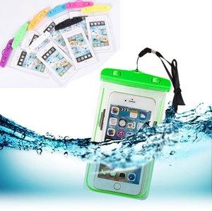 빛나는 방수 전화 파우치 건조 가방 PVC 전화 케이스 끈 수영 다이빙 비치 여름 아이폰 삼성 6 인치